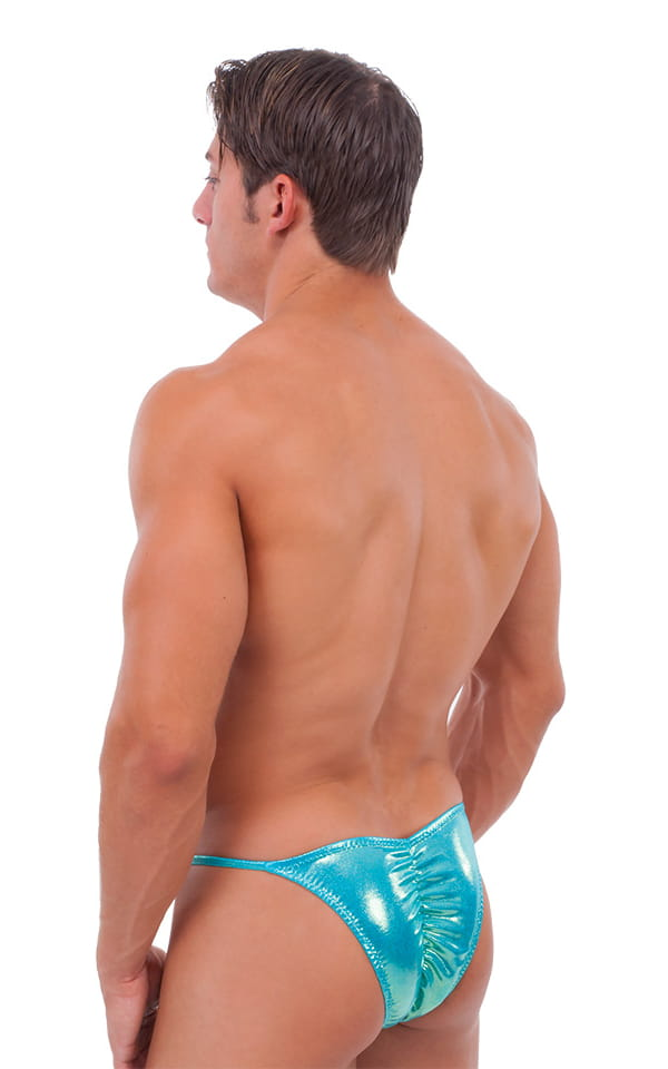 Fitted Pouch - Puckered Half Back - Swimsuit in Mystique Hawaii Mint 3