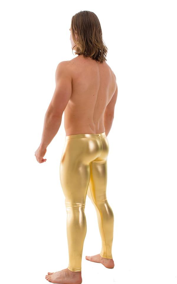 Mens Low Rise Leggings Tights in Liquid Gold 1
