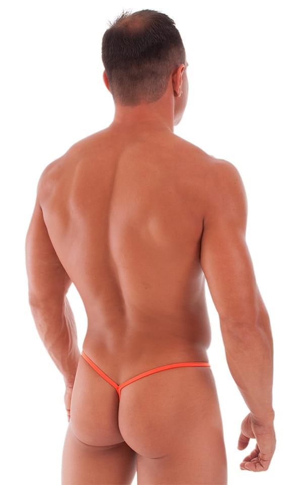 Teardrop G String Swim Suit in ThinSKINZ Apricot - Semi Sheer 3