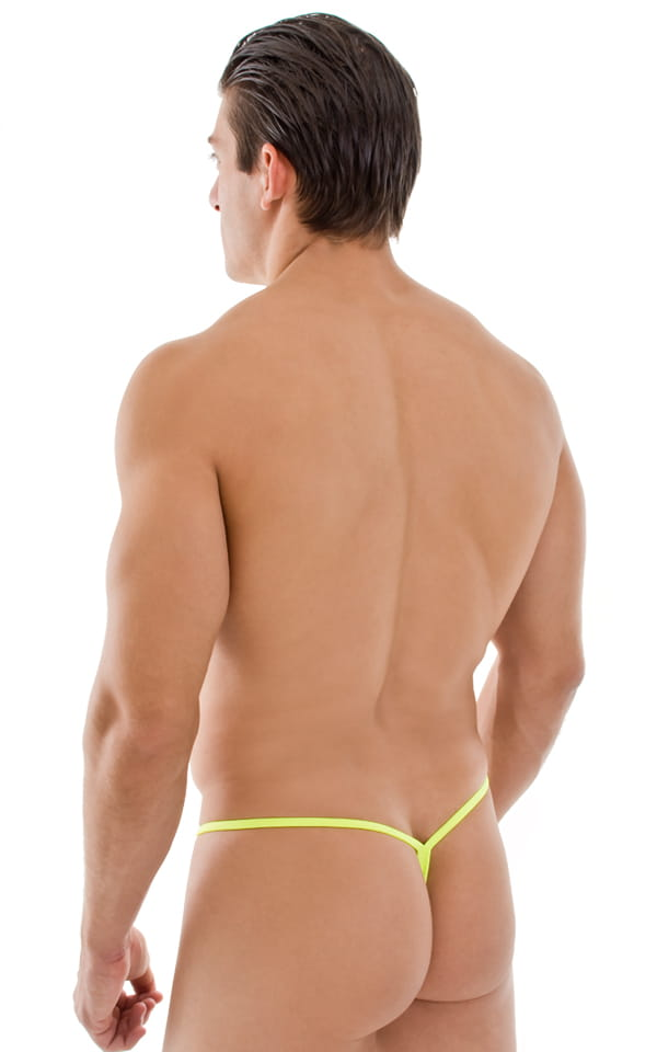 Teardrop G String Swim Suit in Chartreuse (Neon Yellow) 3