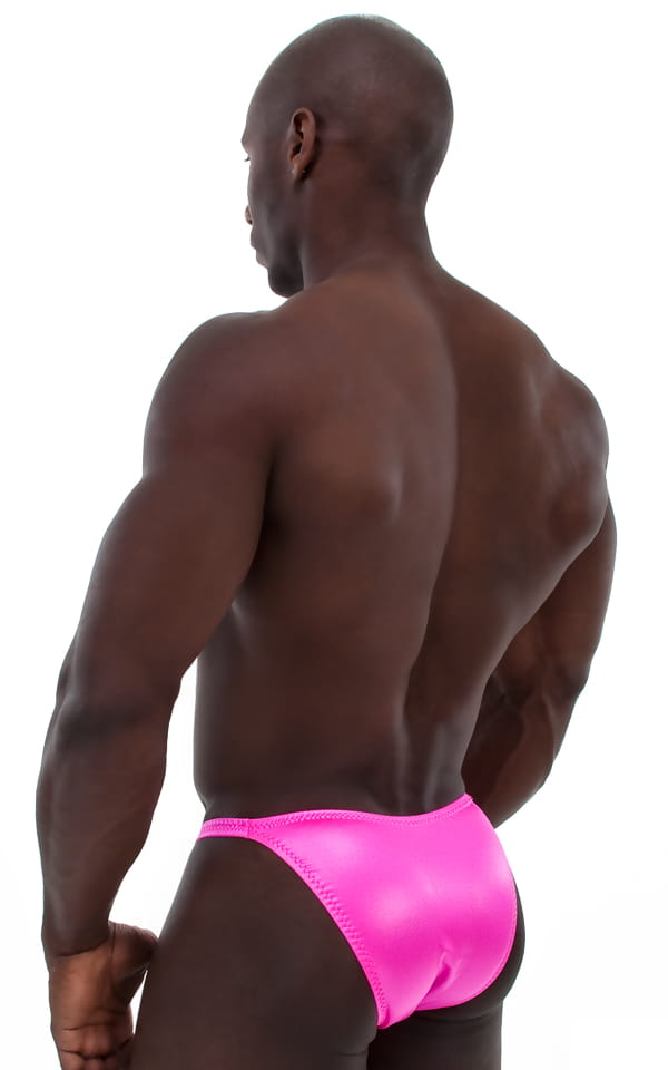 Posing Suit - Competition Bikini Cut in Wet Look Hot Pink 3