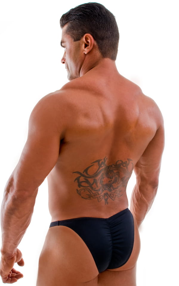 Fitted Pouch - Puckered Back - Posing Suit in Black 6