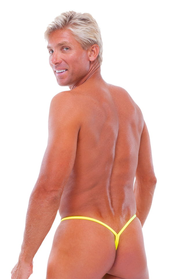 Y Back G String Swim Thong in Chartreuse 3