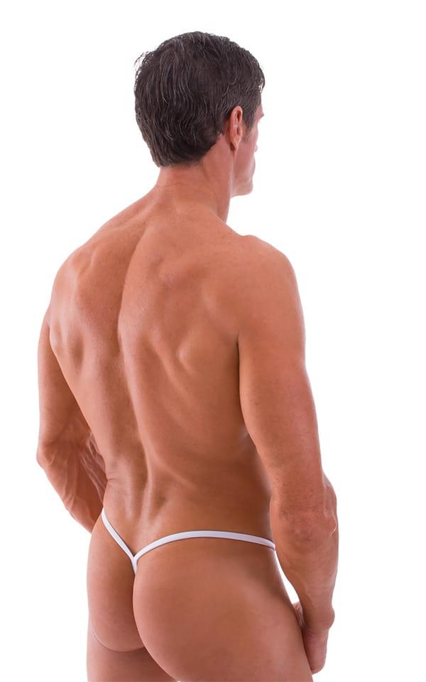 Y Back G String Swim Thong in Optic White 3