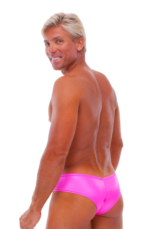 Hot Pants - Sexy Short Shorts in Wet Look Hot Pink 3