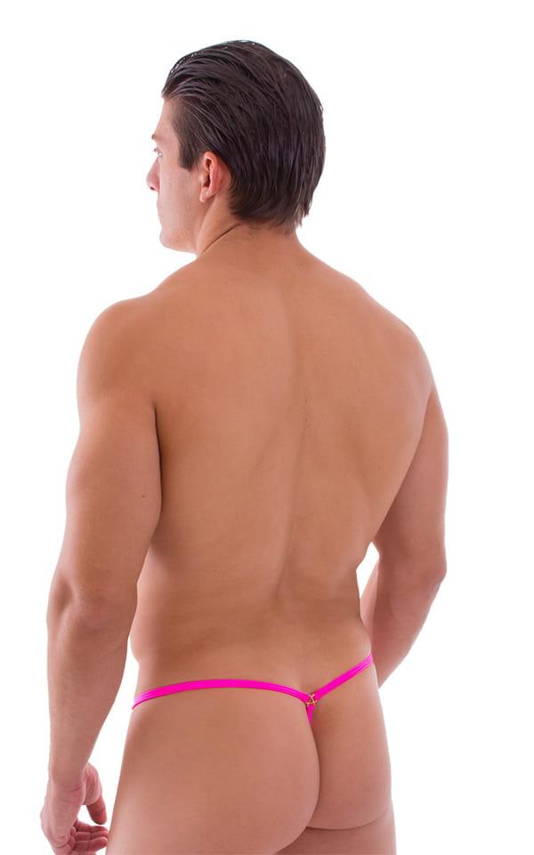 Crixus G String Swim Suit in Neon Pink 3