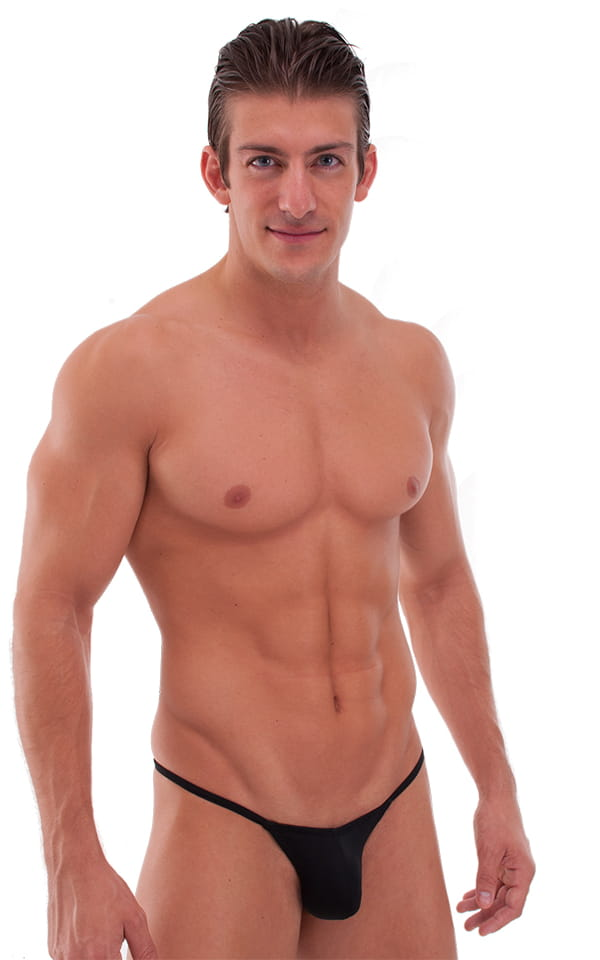 Micro Pouch - Puckered Back - Rio Bikini in Semi Sheer ThinSKINZ Black 1