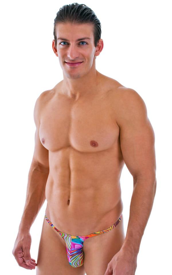 Sunseeker Micro Pouch Half Back Bikini in ThinSKINZ Neon Dali 1