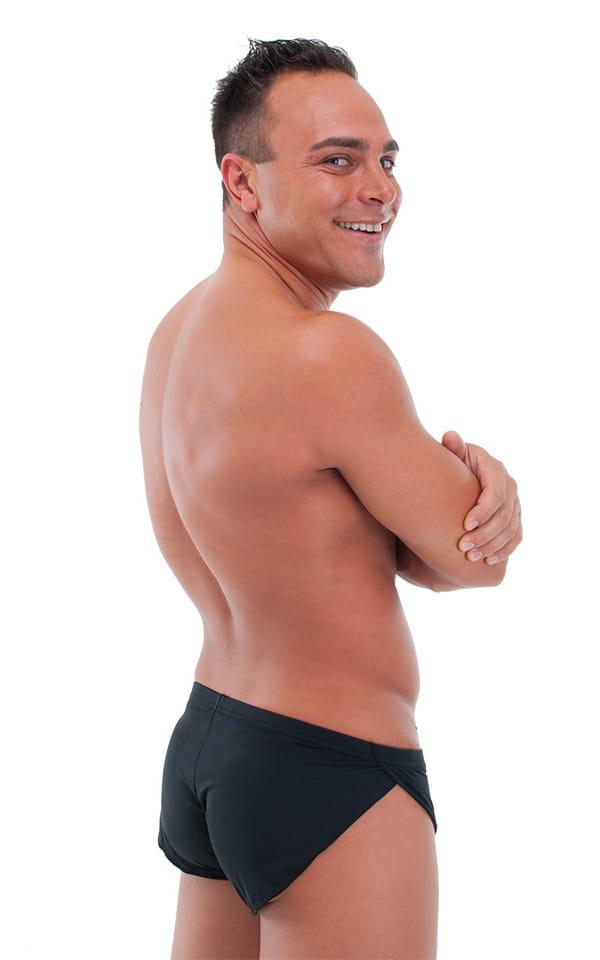 Swimsuit Cover Up Split Running Shorts in ThinSKINZ Black 3