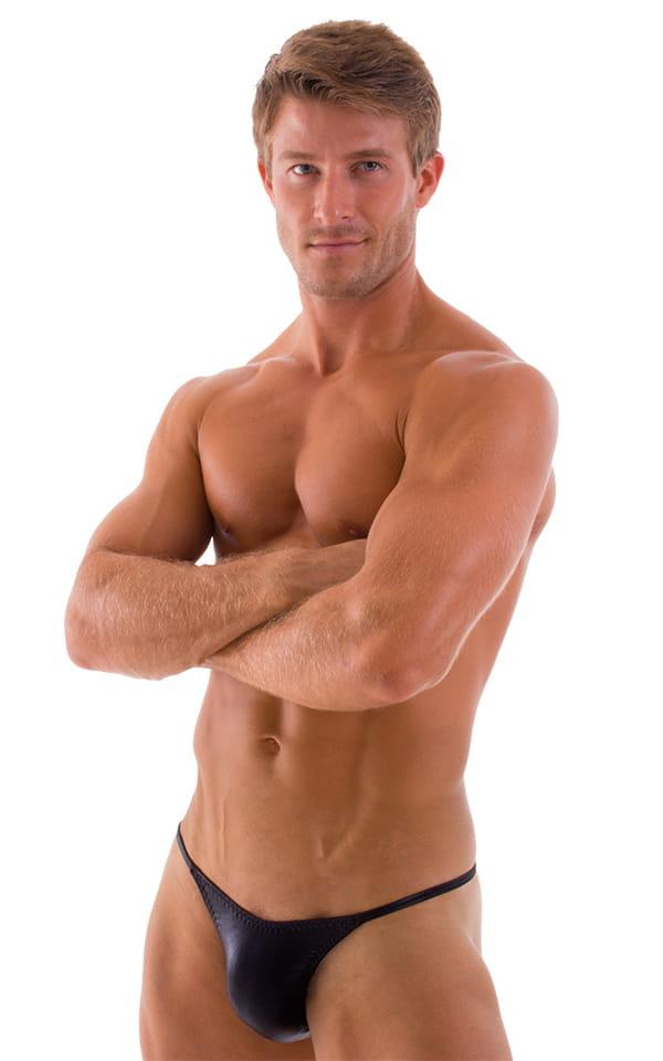 Sunseeker2 Tanning Swimsuit in Wet Look Black 1