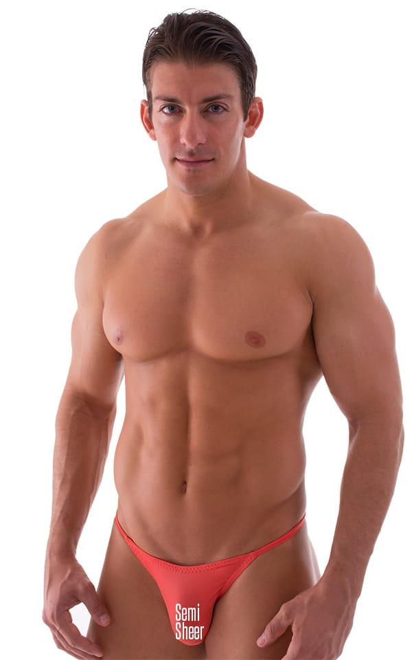 Super Low Brazilian Bikini in Semi Sheer ThinSKINZ Apricot 1
