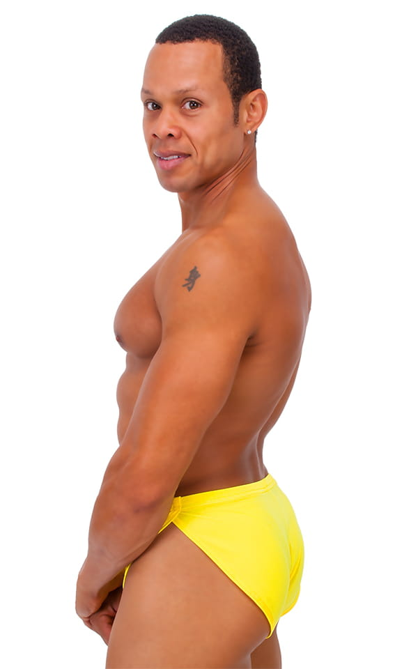 Swimsuit Cover Up Split Running Shorts in Citron Yellow 3