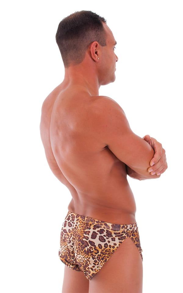 Swimsuit Cover Up Split Running Shorts in Jungle Kat 3