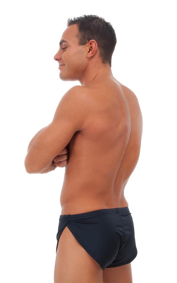 Swimsuit Cover Up Split Running Shorts in Black 3