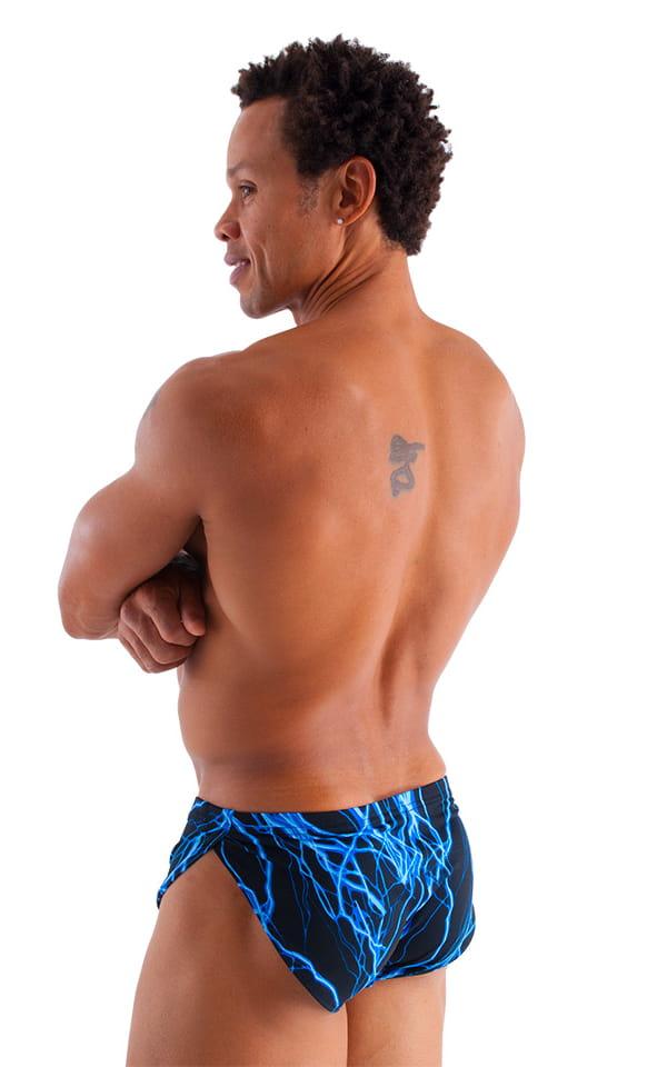 Swimsuit Cover Up Split Running Shorts in Blue Lightning 3