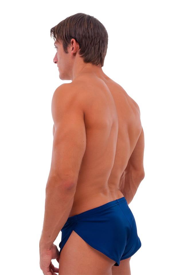 Swimsuit Cover Up Split Running Shorts in Navy Blue 3