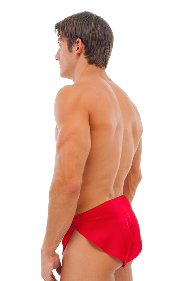 Swimsuit Cover Up Split Running Shorts in Red 3