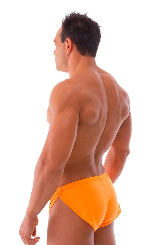Swimsuit Cover Up Split Running Shorts in Neon Orange 3