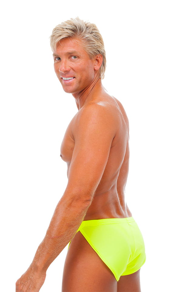 Swimsuit Cover Up Split Running Shorts in Chartreuse 3
