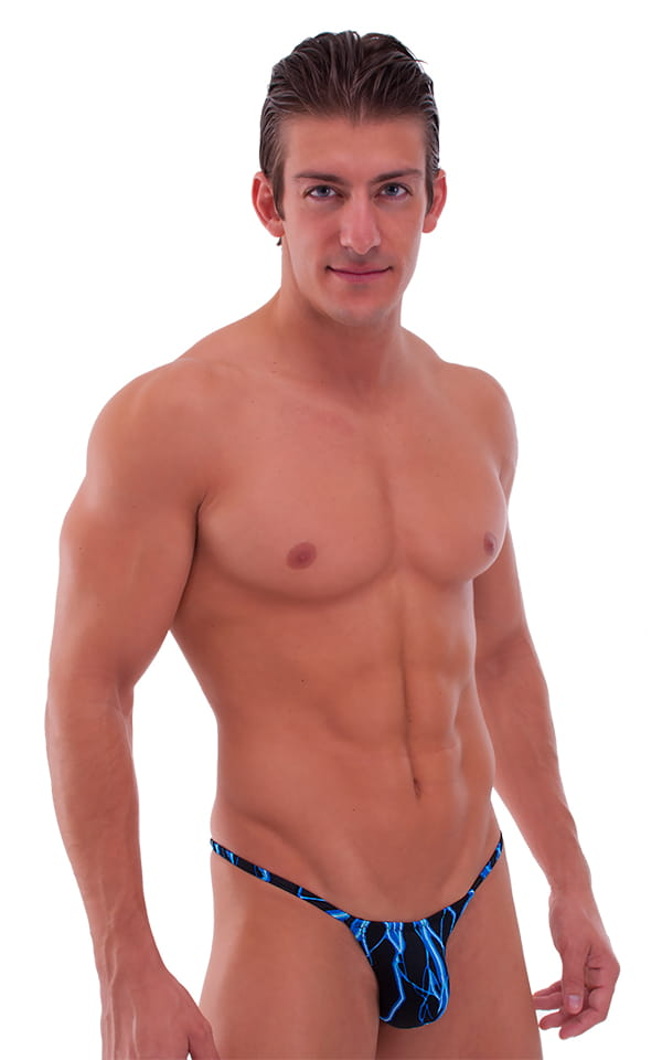 Micro Pouch - Puckered Back - Rio Bikini in Laser Blue Lightning 1