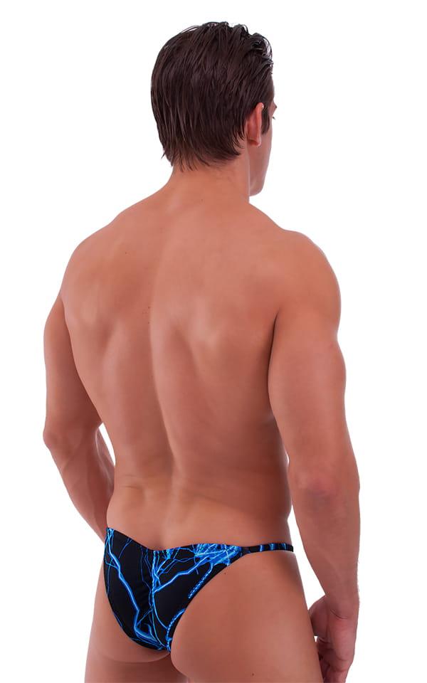 Micro Pouch - Puckered Back - Rio Bikini in Laser Blue Lightning 3