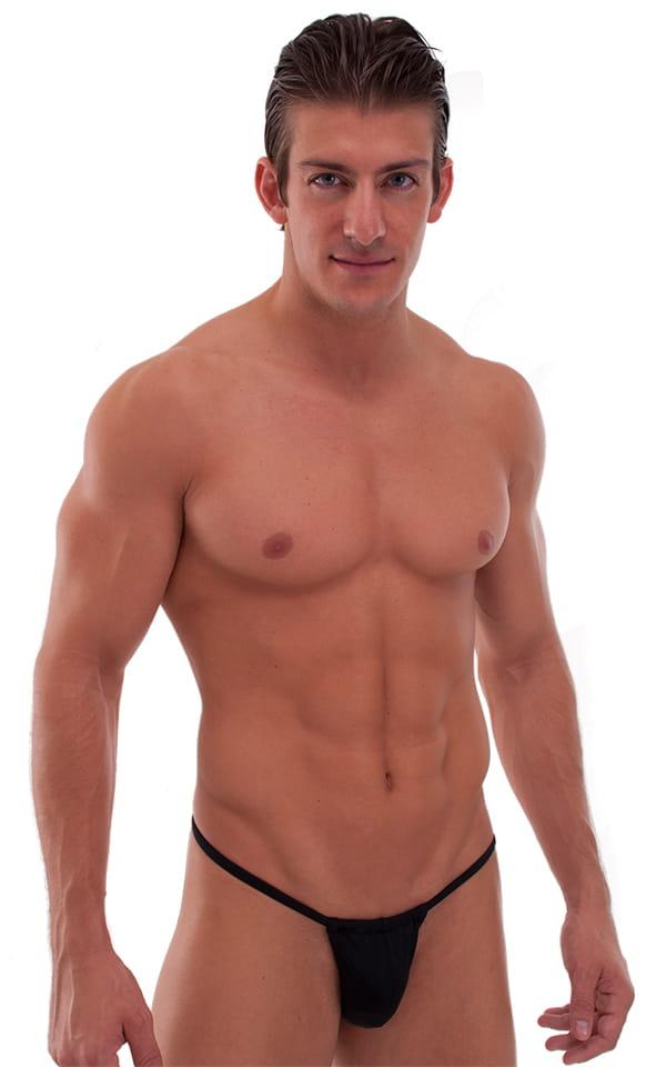 Adjustable to Micro Pouch Tanning Bikini in Black 1