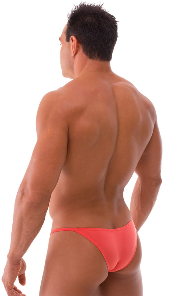 Stuffit Pouch Half Back Tanning Swimsuit in Semi Sheer ThinSKINZ Apricot 3