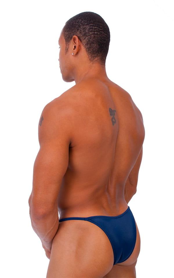 Skinny Side Half Back Swim Suit in Dark Navy Blue 3