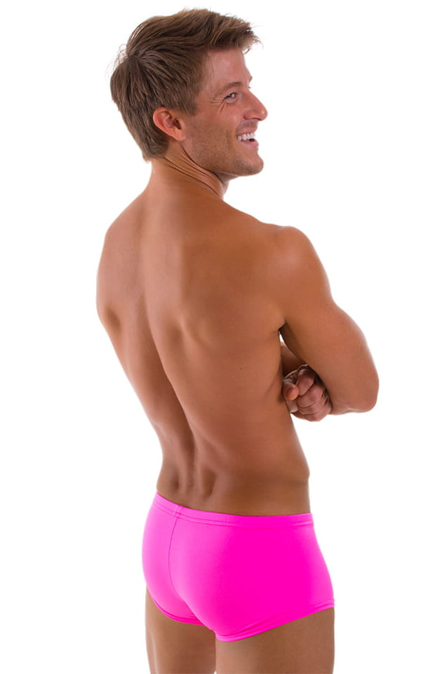 Fitted Pouch - Boxer - Swim Trunks in Hot Pink 3
