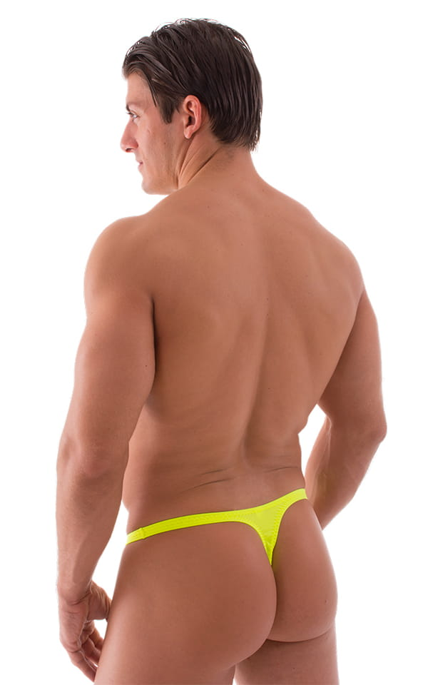 Quick Release Thong - Bravura Pouch in Chartreuse 3