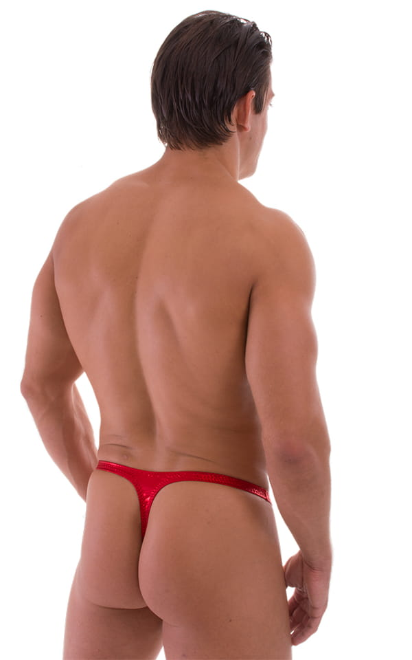Quick Release Thong - Bravura Pouch in Metallic Mystique Volcano Red 3