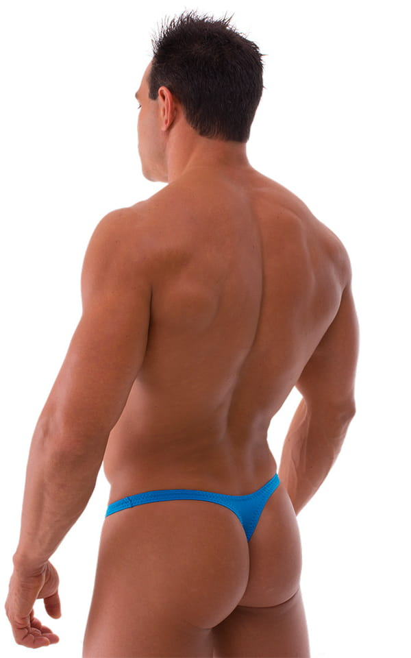 Stuffit Pouch Thong Back Swimsuit in Semi Sheer ThinSKINZ Sapphire 3