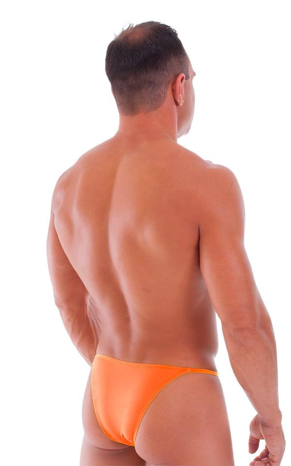 Skinny Side Half Back Swim Suit in Semi Sheer Thinskinz Apricot 3