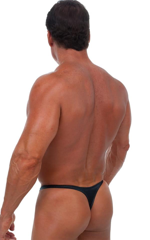 Swimsuit Thong in Wet Look Black 3
