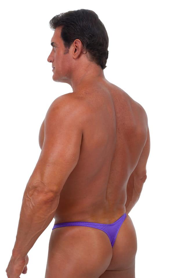 Swimsuit Thong in Wet Look Purple 3