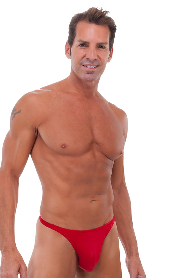 Swimsuit Thong in Semi Sheer ThinSkinz Red 1