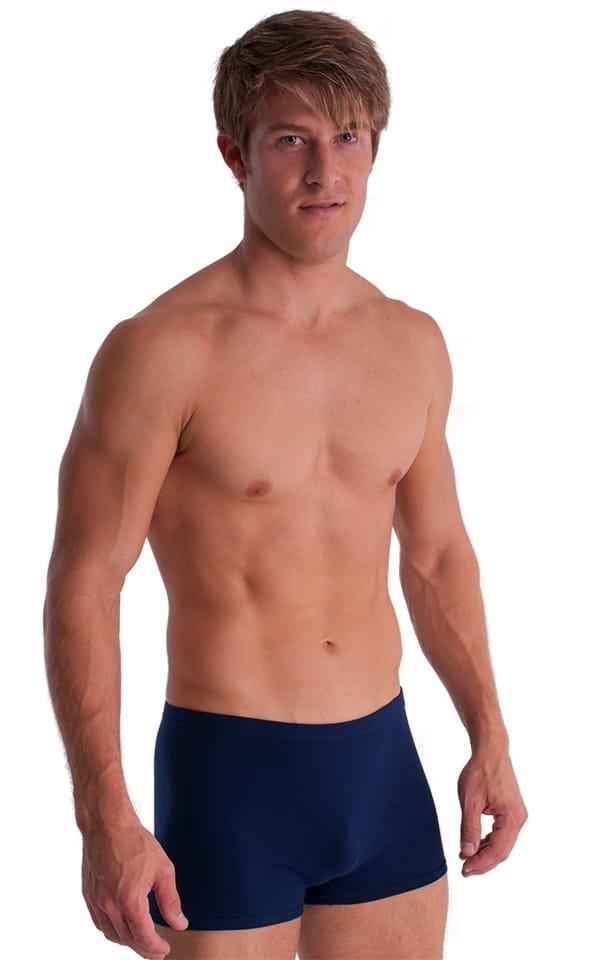 3-Pack - Boxer Length Underwear in Dark Navy cotton/lycra 1