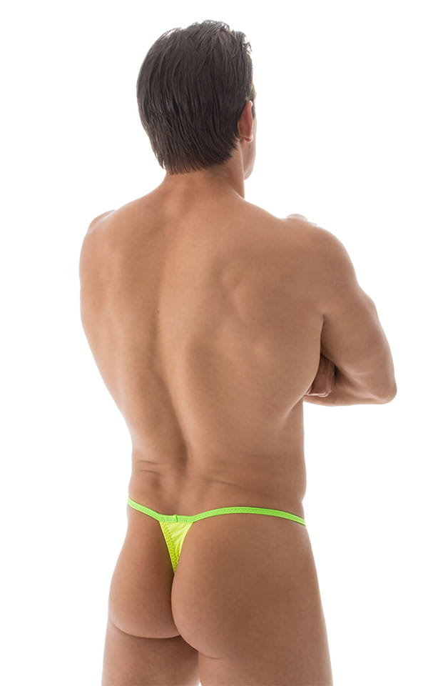 Banded Thong Bathing Suit in ThinSKINZ Chartreuse - Lime Band 3