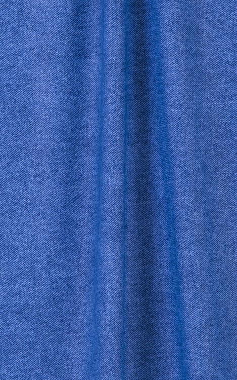 Womens Sexy Teardrop Swimsuit Top in Faded Denim stretch-lycra Fabric
