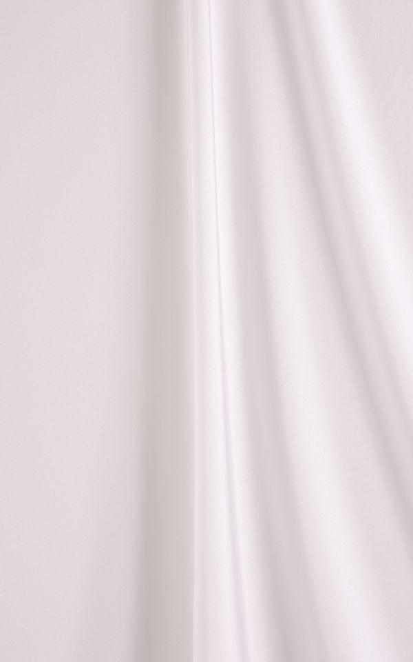 Banded Contest Triangle Bikini Top in JackieO Dots with White Binding Fabric