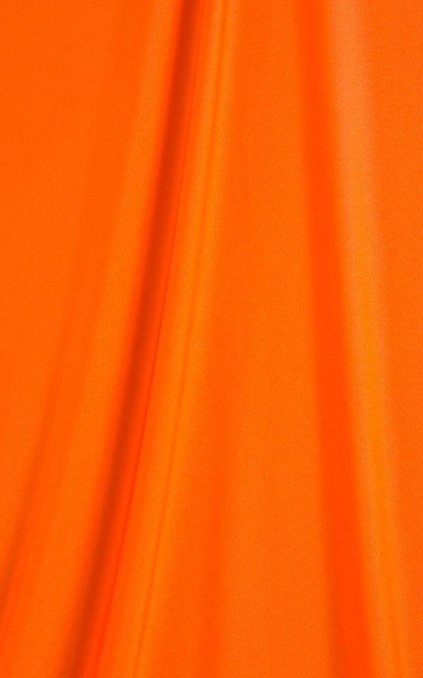 Womens Sexy Teardrop Swimsuit Top in Dark Orange Fabric