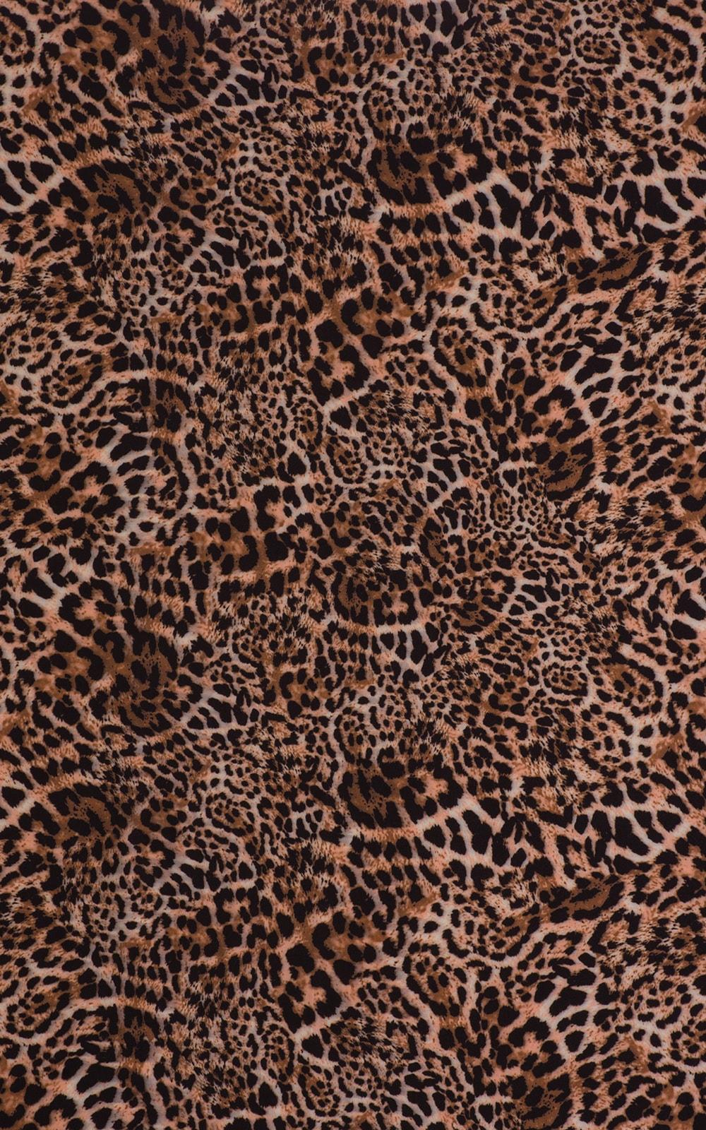Brazilian Triangle Top in Super ThinSKINZ Cheeta Fabric
