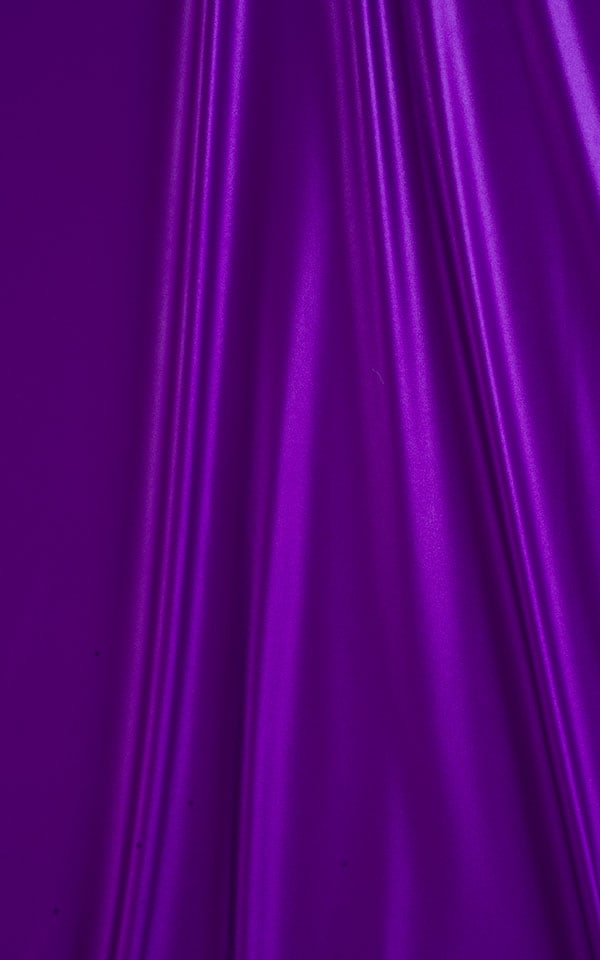Cheeky Aruba Bikini Bottom in Wet Look Purple Fabric