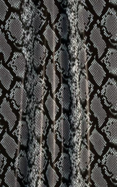 Full Bodysuit Zentai Lycra Spandex Suit for men in Clearcoat Cobra Fabric