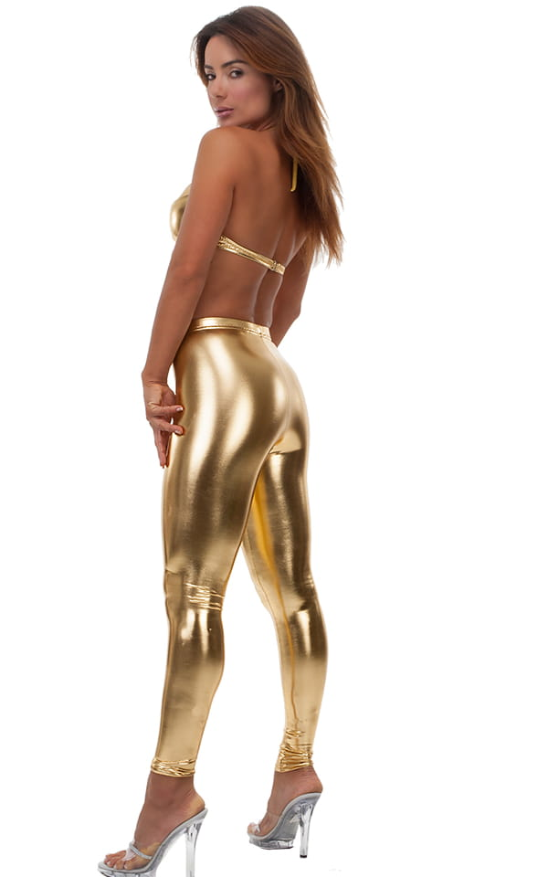 womens sexy underwire push up top in Liquid Gold 3
