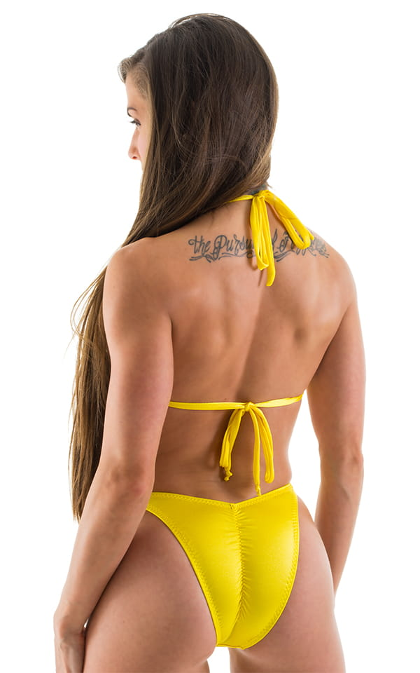 Womens Shaped Triangle Posing Top in Citron 3