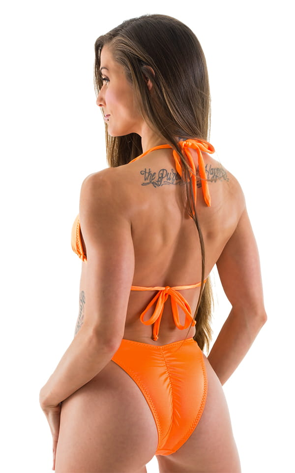 Womens Shaped Triangle Swimsuit Top in Neon Orange 3
