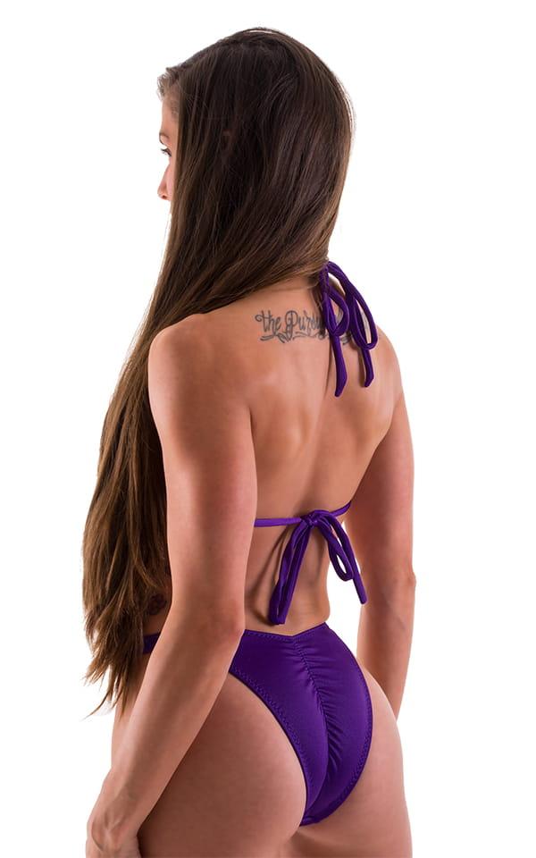 Womens Shaped Triangle Posing Top in Regal Purple 3