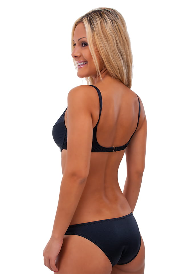 womens sexy underwire push up top in Black nylon-lycra 3