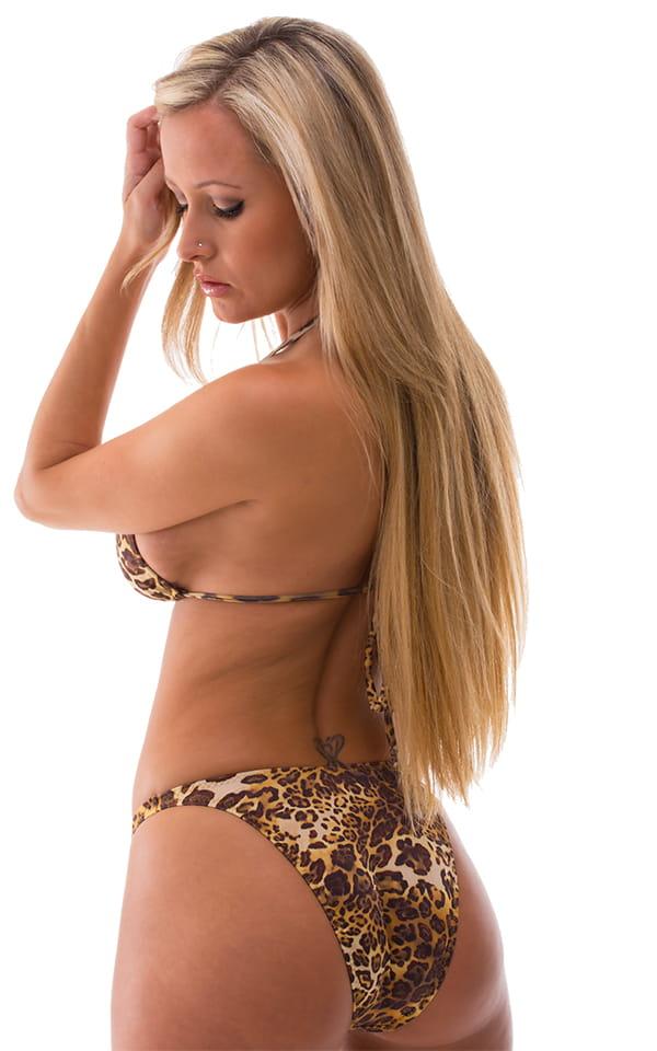 Womens High Cut Brazilian Swim Suit bottom in Jungle Kat 3